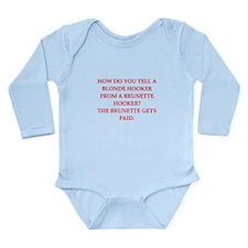 hookers Long Sleeve Infant Bodysuit