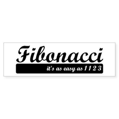 Fibonacci. 1 1 2 3. Sticker (Bumper)