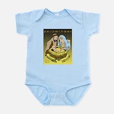 Jesus Christ Is Born (Med) Infant Bodysuit