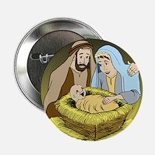"""Jesus Christ Is Born (LG) 2.25"""" Button"""