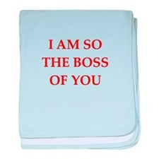 boss joke baby blanket