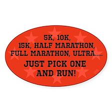 5k 10k 15k Half Full Marathon Ultra Decal