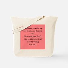 sex joke Tote Bag