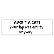Adopt a Cat! Bumper Bumper Sticker