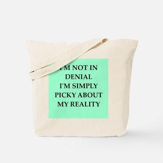 denial Tote Bag