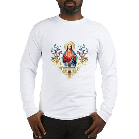 Sacred Heart Black Long Sleeve T-Shirt