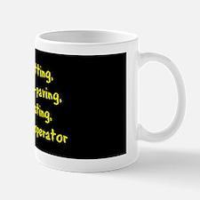 Motorboat Operator Mug/yellow text on black