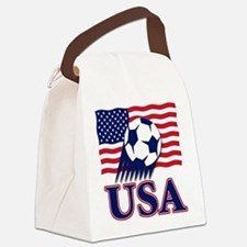 USA(blk).png Canvas Lunch Bag
