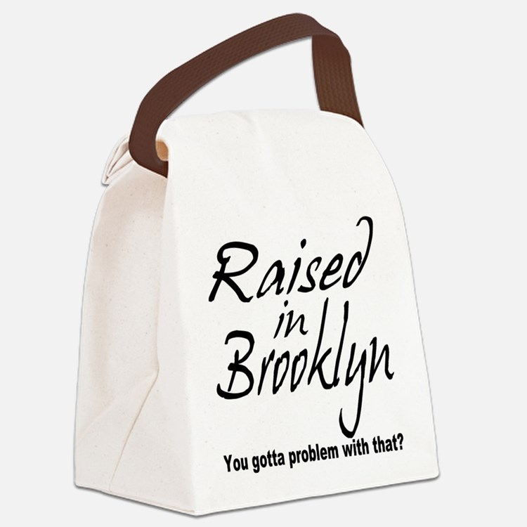 raised inthe bronx.png Canvas Lunch Bag