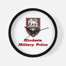 Rhodesia Military Police Wall Clock