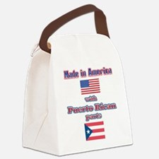 made in america w-Puerto rican parts.png Canvas Lu
