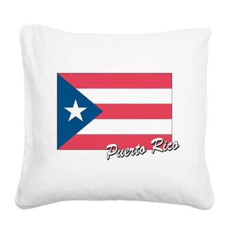 flag of puerto rico.png Square Canvas Pillow