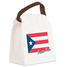 flag of puerto rico.png Canvas Lunch Bag