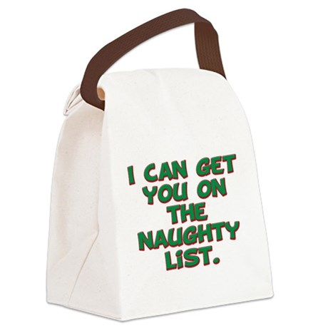 naughty list 1.png Canvas Lunch Bag
