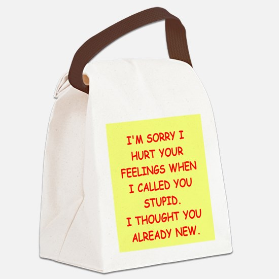 stupid insult Canvas Lunch Bag
