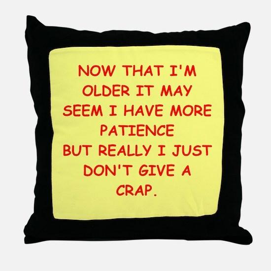 give a crap Throw Pillow
