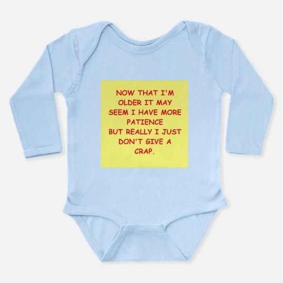 give a crap Long Sleeve Infant Bodysuit