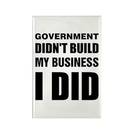 I Built My Business Rectangle Magnet