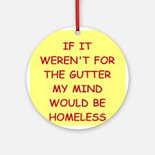 gutter mind Ornament (Round)