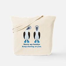 Pair of Boobys text Tote Bag