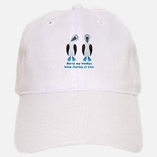 Pair of Boobys text Baseball Baseball Cap