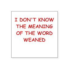 """WEAN.ed Square Sticker 3"""" x 3"""""""