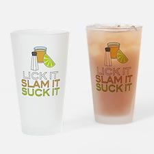 Lick It Slam It Suck It Drinking Glass