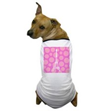 Eiffel Tower on Pink Dots Dog T-Shirt