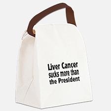 Liver Cancer Canvas Lunch Bag