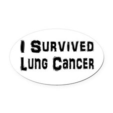 Cute Cure lung cancer Oval Car Magnet