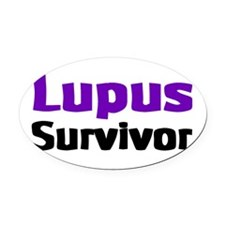 Lupus Oval Car Magnet