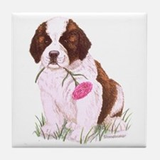 Saint Bernard Puppy Decorative Tile