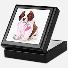 Saint Bernard Puppy Keepsake Box
