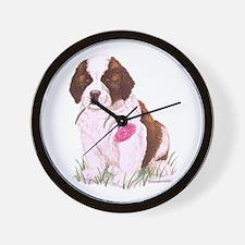Saint Bernard Puppy Wall Clock