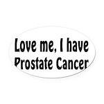 Prostate Cancer Oval Car Magnet