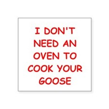 """GOOSE.png Square Sticker 3"""" x 3"""""""