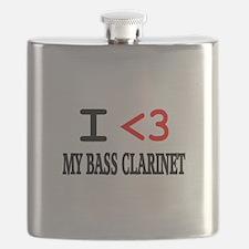 I Heart Bass Clarinet Flask