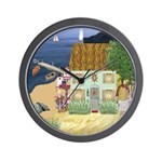 Lakeside Cottage Wall Clock
