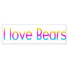 I love Bears Bumper Bumper Sticker