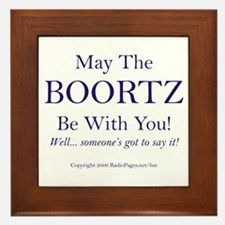 May The Boortz Be With You! Framed Tile