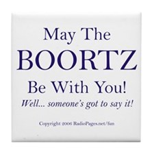May The Boortz Be With You! Tile Coaster