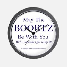 May The Boortz Be With You! Wall Clock