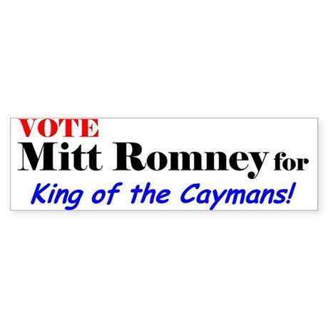 Vote Romney for King of the Caymans! Sticker (Bump