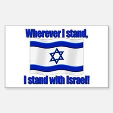 Wherever I stand! Rectangle Decal