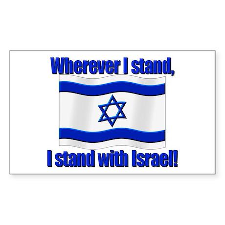 Wherever I stand! Rectangle Sticker