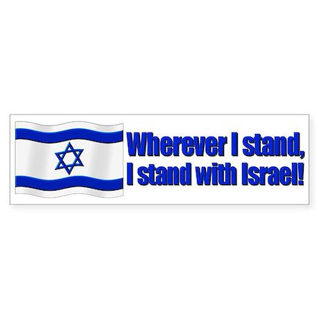 Wherever I stand! Bumper Sticker