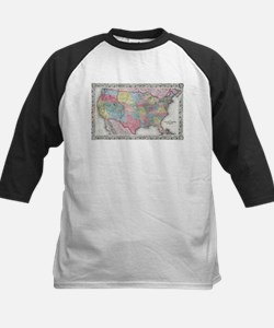 Vintage United States Map (1853) Baseball Jersey