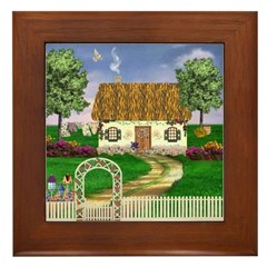 Country Cottage Framed Tile