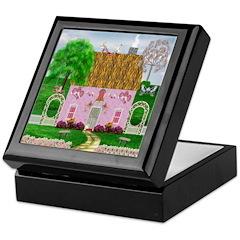 Valentine's Day Cottage Keepsake Box