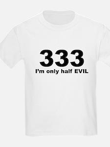 333-half evil Kids T-Shirt
